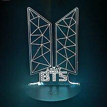 ALTcompluser Kpop BTS LED Nachtlicht Standing