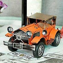 Alte Zinn Oldtimer Manuelle Eisen Blech Von Der Fahrzeug-Modell-Heimtextilien , orange