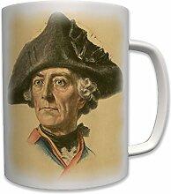 Alter Fritz Friedrich der Große König Preußen Profil Portrait- Tasse Becher Kaffee #6405