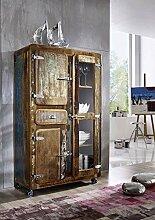 Altholz massiv Möbel lackiert Industrial-Stil Brotschrank Massivholz Eisen Massivmöbel Freezy #34