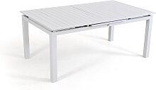 Alu Esstisch ausziehbar 180/240 cm - weiß -