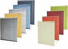 Alu-Jalousie in vielen Farben für Fenster und Türen / in Höhen von 150 cm bis 240 cm / für Wand- und Deckenmontage (optional Klemmträger) - Auswahl: Farbe blau-metallic, Breite x Höhe 220 x 170 cm
