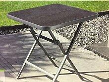 Alu Klapptisch Gartentisch Tisch Sicherheitsglas