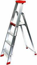 Alu-Profi-Stehleiter 4 Stufen / Sprossen, 176x54x16cm, Aluminium, Marke: Szagato (Stehleiter, Anlegeleiter, Aluleiter, Kombileiter, Leiter)