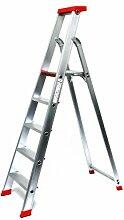 Alu-Profi-Stehleiter 5 Stufen / Sprossen, 203x58x16cm, Aluminium, Marke: Szagato (Stehleiter, Anlegeleiter, Aluleiter, Kombileiter, Leiter)