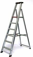 Alu-Profi-Stehleiter 6 Stufen / Sprossen, 2230x61x16cm, Aluminium, Marke: Szagato (Stehleiter, Anlegeleiter, Aluleiter, Kombileiter, Leiter)
