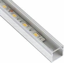 Alu Profil Quadrat 1m + Abdeckung für LED