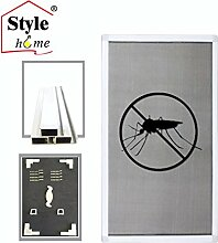Alu Rahmen Fliegengitter für Fenster Insektenschutz Mückengitter Gitter (Weiß/120x140) FF16