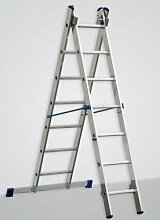 Alu-Schiebeleiter 2x7 Stufen/Sprossen, (2in1)