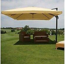 Alu Sonnenschirm 3x4m creme Ampelschirm Schirm