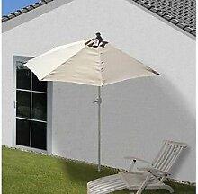 Alu Sonnenschirm halbrund 300cm Schirm Halbschirm