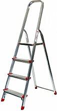 Alu-Stehleiter 4 Stufen / Sprossen, ECO, 157x45x22cm, Aluminium, Marke: Szagato (Stehleiter, Anlegeleiter, Aluleiter, Kombileiter, Leiter)