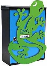 Alubox Micio Postkasten Mia mit Tür, mehrfarbig