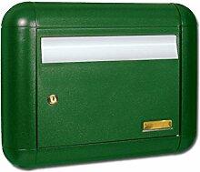 Alubox Schnee Briefkasten, Grün