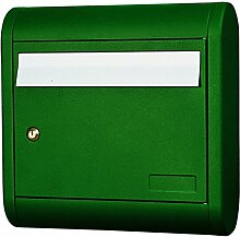 Alubox Sonne Briefkasten, Grün