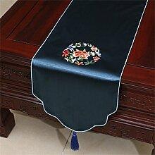 ALUK- (33cm * 200cm) im chinesischen Stil Garten Flagge bestickte Tischdecken Bettschrank Flagge Tuchkunsttischläufer ( farbe : # 6 )