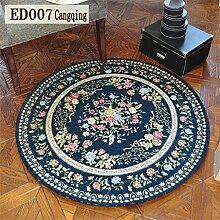 ALUK-Amerikanischer Teppich Round / Square Teppich Computer Stuhl Wohnzimmer Europäische Sweet Pastoral Schlafzimmer Teppich