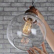 ALUK-Antike retro-Kunst-Glas-Lampen Schlafzimmer Lampen Cafe Restaurant Industriebeleuchtung