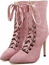 ALUK- Europa und die Vereinigten Staaten Wild Fashion High-heeled Temperament mit Damenschuhe ( Farbe : Pink , größe : 37 )