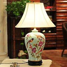 ALUK- Europäische kreative Mode Keramik großes modernes Wohnzimmer Schlafzimmer Nachttischlampe Dekoration
