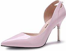 ALUK- Frühling und Sommer - dünne hochhackige Schuhe mit spitzen Schuhen Koreanische Version von Casual Schuhe ( Farbe : Light pink , größe : 36 )