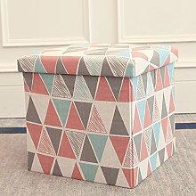 ALUK- small stool ALUK- Multifunktions-Hocker/Stehhocker/Klappstuhl für Erwachsene/Home-Sofa Schuhablage/Aufbewahrungsbox (Farbe : A, Größe : 30*30*30cm)