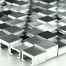 Aluminium Alu Metall Glas 3D Design Mosaik Fliesen