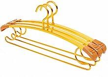 Aluminium anti-hanger skid Haushalt multifunktionale Kleiderbügel Kleiderhaken Kleiderbügel hängenden Hosen rack Bekleidung unterstützen, 10, gold