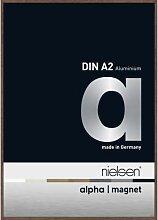 Aluminium Bilderrahmen Alpha Magnet TCSC 42x60 cm