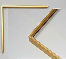 Aluminium Bilderrahmen Modell Berlin Gold-ma