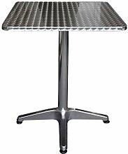 Aluminium Bistrotisch 60x60x70cm Klapptisch Beistelltisch Gartentisch Balkontisch Frühstückstisch 4-Fußkreuz Gartenmöbel Balkonmöbel Terrassenmöbel