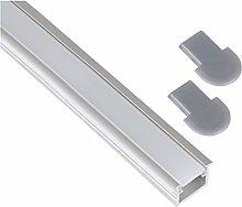 Aluminium Einbau Profil eloxiert 1m SET +