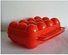 Aluminium et Plastique BO12ROUGE Eierbox, Polyethylen, für 12 Eier, Ro