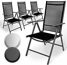 Aluminium Gartenstuhl mit Armlehnen Set   5-Fach