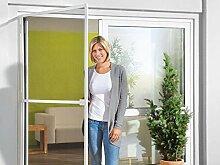 Aluminium-Insektenschutz für Tür in weiß, ca. B 100 x H 210 cm
