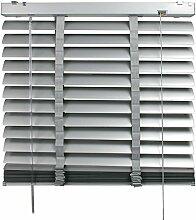 Aluminium-Jalousie 50 mm Lamelle   B 120 x H 175 cm   Hellgrau