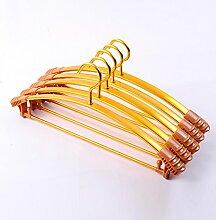 Aluminium Kleiderbügel inländischen im Europäischen Stil Kleidung Unterstützung erwachsener Metallaufhänger rutschfeste Wäscheständer, 10, C2 Gold