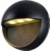 Aluminium LED Außen-Wandleuchte Luzern Wandlampe Hausbeleuchtung Leuchte (schwarz)