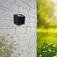 Aluminium LED Außen-Wandleuchte Padua 2x 3W