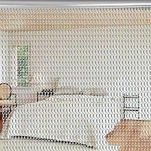 Aluminium Metallkette Vorhang Schädlingsbekämpfung Ketten Vorhang Türvorhang Sichtschutz/ Insektenschutz 90 x 214,5cm (Silber)