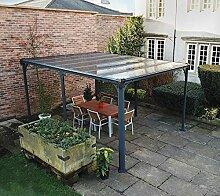 Aluminium Pavillon Überdachung Gazebo Milano 4300 436x316 cm//Sommer-Pavillon und Gartenpavillon mit 6mm Doppelstegplatten