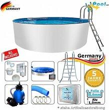 Aluminium-Schwimmbecken 7,00 x 1,50 m Pool Komplettse