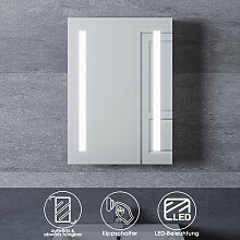Aluminium Spiegelschrank mit LED Beleuchtung