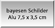 Aluminium stabile Ausführung 7,5cm x 3,5cm Namensschilder, Türschilder, Klingelschilder, Briefkastenschilder