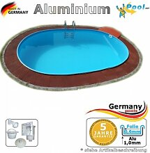 Aluminiumpool Ovalbecken 6,23 x 3,60 x 1,50 m Alu Swimmingpool Ovalpool 6,23 x 3,6 x 1,5 Einbaupool Alupool Fertigpool Schwimmbecken oval Pool Aluminium Pools Gartenpool Einbaubecken Folienpool Se