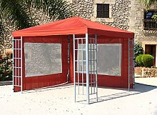 Aluoptik Garten Pavillon 3x3m Terrakotta Partyzelt