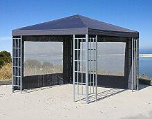 Aluoptik Pavillon 3x3m Anthrazi