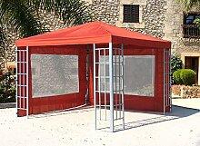 Aluoptik Pavillon 3x3m Terrakotta