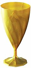 Aluplast–Weinglas gold Einweg