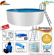 Alupool 7,00 x 1,25 Set Pool Rundpool 7 m Swimmingpool 7,0 x 1,2 Schwimmbecken Rundbecken rund Pools Gartenpool Aufstellbecken Einbaupool Aufstellpool 700 cm Set Aluminium Sets Komplettse